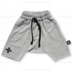 NUNUNU Heather Grey Terry Shorts