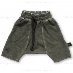 NUNUNU Dyed Olive Terry Shorts