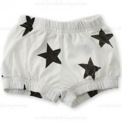 NUNUNU White Star Yoga Shorts