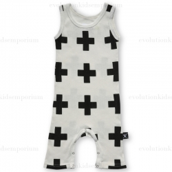 NUNUNU White Plus Tank Top Playsuit