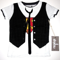 Mini Shatsu Super Hero Vested Tee