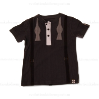 Mini Shatsu Bow Tie Suspenders Tee