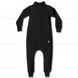 The Mini Classy Black Herringbone Coverall