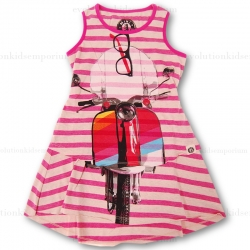 Mini Shatsu Rainbow Scooter Stripe Dress