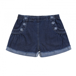 Paper Wings Faded Indigo Denim Sailor Shorts