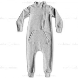 The Mini Classy Heather Grey Herringbone Coverall