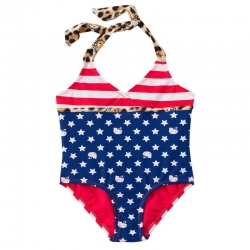 DC Comics Hello Kitty Stars & Stripes Halter One Piece Swimsuit