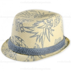 Fore!! Axel & Hudson Tan Pineapple Print Trilby