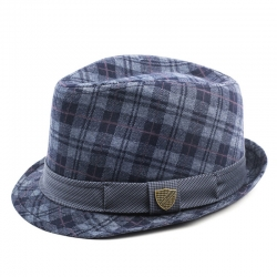 Fore!! Axel & Hudson Grey Plaid Fedora