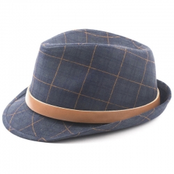 Fore!! Axel & Hudson Green Plaid Fedora w/Belt Buckle Band