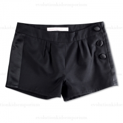Appaman Girls Black Tuxedo Shorts