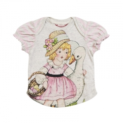Little Wings Easter Girl Envelope Neck Tee