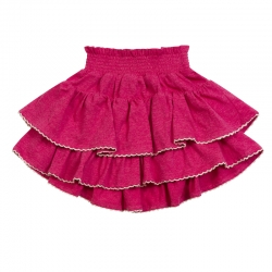 Little Wing Deep Pink Frilled Skirt