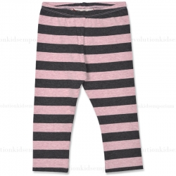 Little Wings Pink/Charcoal Dyed Stripes Leggings