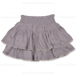 Little Wings Silver Grey/Cream Frilled Skirt