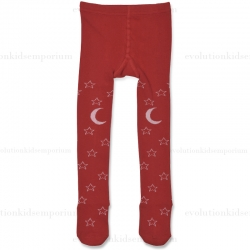 Little Wings Red/Cream Starry Night Tights
