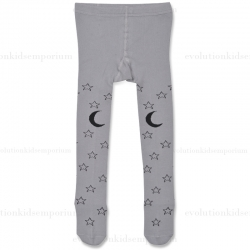 Little Wings Grey/Charcoal Starry Night Tights