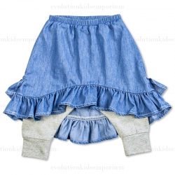Little Wings Indigo Leggings w/Skirt