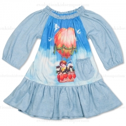 Little Wings Heart Balloon Frilled Dress