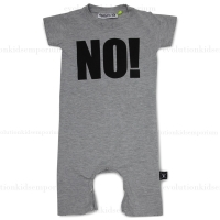 Nununu Heather Grey NO! Romper