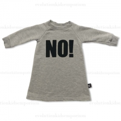 "Nununu Heather Grey ""NO!"" Dress"