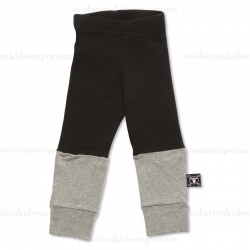 Nununu Black/Heather Grey One Fourth Leggings