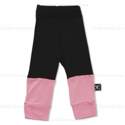 Nununu Black/Neon Pink One Fourth Leggings