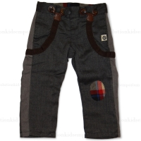 Mini Shatsu Herringbone Suspender Pants