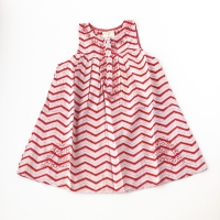 Pink Chicken Leela Red/Purple Zigzag Dress