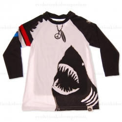 Mini Shatsu Surf with Sharks Long Sleeve Raglan