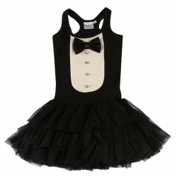 Ooh! La, La! Couture Black Tuxedo Dress