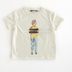 La Miniatura Bone Mugshot Rolled-Up Sleeve Tee