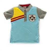 Fore!! Axel & Hudson Bachelor Blue Emblem Applique Polo