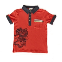 Fore!! Axel & Hudson Flocked Dragon Polo w/Applique