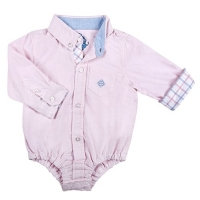 Andy & Evan Pink Oxford Dress Shirtzie