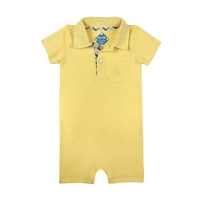 Andy & Evan Yellow Pique Romper