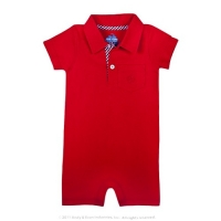 Andy & Evan Red Pique Romper