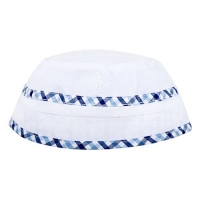 Andy & Evan White Plaid Reversible Bucket Hat