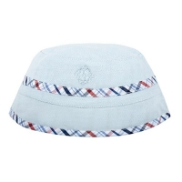 Andy & Evan Baby Blue Plaid Reversible Bucket Hat