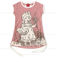 Paper Wings Little Red Riding Hood Tank Dress w/Drawstrings