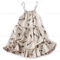 Paper Wings Sateen Maxi Dress w/Drawstrings