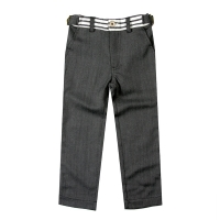 Fore!! Axel & Hudson Graphite Herringbone w/Detailed Waistband Pants
