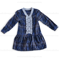 Blu Pony Vintage Brown/Blue Plaid Tilly L. Dress