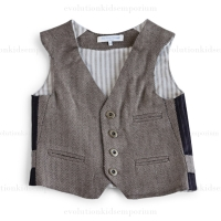 Blu Poney Vintage Brown Herringbone Erich V.S. Vest
