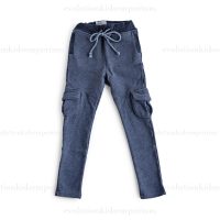 La Miniatura Charcoal French Terry Cargo Pants