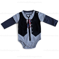 Mini Shatsu L/S Super Hero Vest Onesie