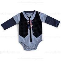 Mini Shatsu L/S Super Hero Vest Onesie