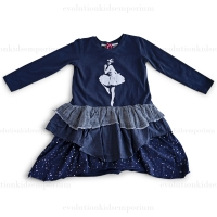 Paper Wings Navy L/S Ballerina Dancer Dress