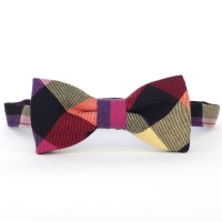 Urban Sunday Fall Check Bow Tie