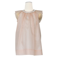 Hucklebones Pink Peony Cotton Viole Dress